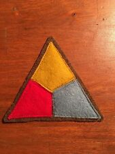 WWI US Army Tank Corps patch AEF wool
