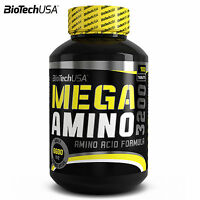 MEGA AMINO 3200 100 Tablets BCAA Full Spectrum Amino Acids Whey Protein Pills