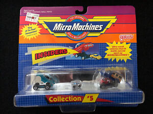 New Vintage Galoob Micro Machines Insiders Collection #5 Cars