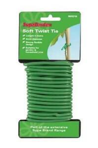 Pack SupaGarden Soft Twist Tie 5m Soft Plant Tie Support