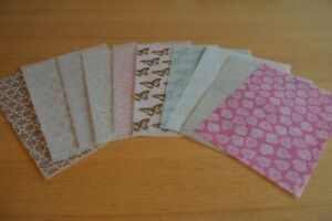 10 Assorted Sheets Patterned Vellum Set 4