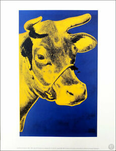 ANDY WARHOL Cow 1971 Official Authorized Litho Print 1989
