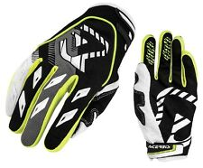 GUANTI GLOVES MOTO ENDURO CROSS ACERBIS MX1 GIALLO YELLOW NEON NERO TG L