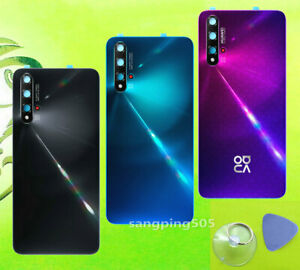 E Battery Back Cover Glass+Camera Lens For Huawei Nova 5T / Nova 5 / Nova 5 pro