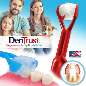 DenTrust | The Only Child-Safe 3-Sided Toothbrush + Tongue Cleaner | Made in USA