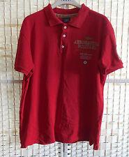 Aeronautica Militare Camisa Polo De Algodón Rojo Hombre XXL