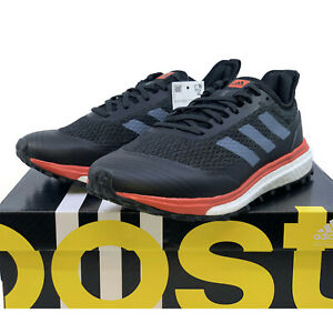 ADIDAS RESPONSE TRAIL BOOST Womens Running Shoes Black Red Adidas Sneakers NEW