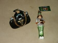 NOS 2 New Old World Ornaments Nurse and Doctor Bag