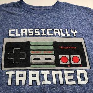 Nintendo Entertainment System Classically Trained Adult T Shirt Medium M Blue