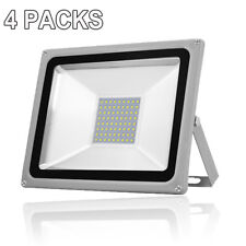 4X 50W NEW LED Floodlight LEMBRD Cool / Day White Outdoor Garden Lighting IP67