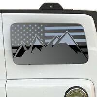 Jeep Hardtop Flag Decal Regular USA American Wrangler JKU Stars Rubicon  HS8