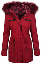 Winter damen jacke damen parka mantel damenjacke mit kapuze fellkragen D-214 NEU