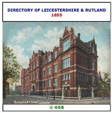 DIRECTORY OF LEICESTERSHIRE & RUTLAND 1855 CD ROM