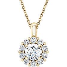CHARLES & colvard moissanita & 5/8 CTW Diamante 40,6 -45 , 7cm 14k ORO AMARILLO