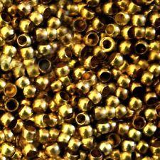 """Lot de 100 Perles à Écraser """"DORÉ""""   environ Ø 2 mm"""