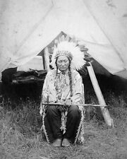 Native American Indian CHIEF SITTING BULL Vintage 8x10 Photo Sioux Glossy Print