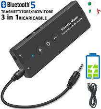 Trasmettitore Ricevitore Bluetooth 5.0 USB Audio Wireless Ricaricabile per TV PC