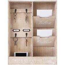 Wandorganizer Memoboard Schlüsselbrett H48x36x7cm Holz Schlüsselboard Ablage