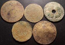 Jetons de Compte - Louis XIV, Nuremberg lot de x5 jetons laiton et cuivre