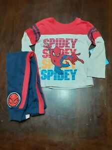 """2 piece NEW Marvel Spiderman """"Spidey"""" outfit Boys size 5-6 FREE SHIPPING"""