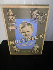 rare carton publicitaire chaise - meuble BAUMANN - bois courbé - enfants ( ça 1