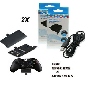 2X 2400mAh Rechargeable Battery Packs for Xbox One & One S Controller & cable