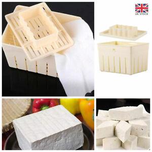 DIY Tofu Maker Press Mold Homemade Tofu Cheese Cloth Cuisine Making Machine New