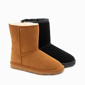 UGG Boots Genuine Australian Sheepskin Unisex Short Classic Suede (Large Size)