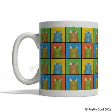 Selkirk Rex Cat Mug - Cartoon Pop-Art Coffee Tea Cup 11oz Ceramic
