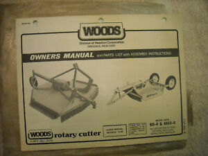 Woods Owners Manual, parts list Models 60-4 & M60-4 rotary cutters