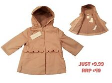 Baby Girls Coat Jacket Spring Summer Raincoat 6Mth - 3Yrs BNWT DESIGNER RRP £49