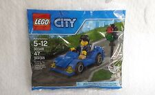 30349 Lego City Blue Sports Car with Driver Minifigure figure polybag set Town