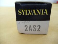 """ONE NOS """" 2AS2 """"  SYLVANIA  VACUUM TUBE  FULLY TESTED"""