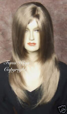 Silky Layered Loose Wavy Wig In Light Brown / Brilliant Fibre Brilliant Quality