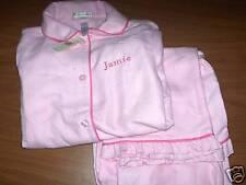 "POTTERY BARN KIDS Pink FLANNEL PAJAMAS SZ 8 ""Jamie"""
