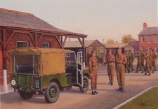 Land Rover Army Truck National Service 1950s  Birthday Card