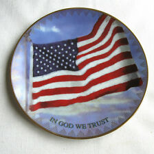 """""""OLD GLORY"""" US Flag Plate for SEPTEMBER 11, 2001  Price Cut!"""
