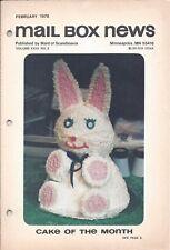 Vintage Cake Magazine Mail Box News February 1978 Maid of Scandinavia