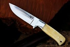 Custom D2 Steel & Camel Bone Hunting Knife from DCKC w/ FREE Expedited Shipping
