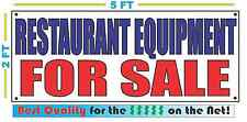 RESTAURANT EQUIPMENT FOR SALE Banner Sign NEW Larger Size Best Quality for The $