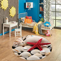 3D Starfish Pebbles ZHUA2074 Game Non Slip Rug Mat Photo Carpet Zoe