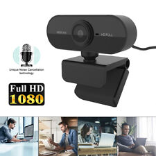 Webcam 1080P Full HD mit Mikrofon Web Kamera Videochat Computer Camera Laptop