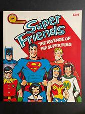 1977 Super Friends Super Foes Golden Books Paperback Dc Superman Batman Nm Wow