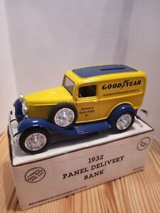Ertl Jimmy's Goodyear 1932 Truck delivery Bank 1/25 scale. Diecast metal.
