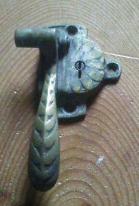 Antique Brass Window Locking Handle No Key.