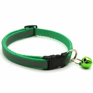 Dog Puppy Adjustable Collars Nylon Reflective Bell Collar For Cat And Small Dog