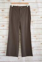 Banana Republic - Dark Brown CONTOURED FIT wool blend STRETCH dress pants, sz 8