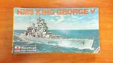 Vintage 1983 Waterline 1/1200 Scale Model Kit - HMS KIng George V - New & Sealed