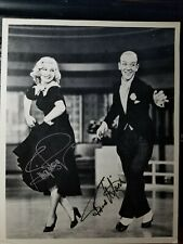 Fred Astaire Ginger Rogers Autograph 8x10 VINTAGE Certified by JSA