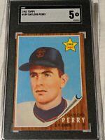 1962 Topps #199 Gaylord Perry SGC 5 EX HOF RC Rookie Card Great Looking!